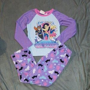 3/$18 DC Super Heroes Girls 10/12 pjs set